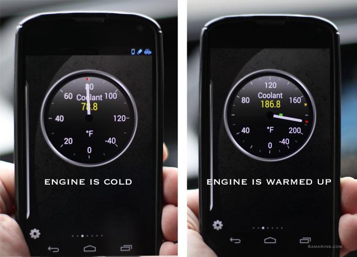 Engine Temperature on Dodge Dakota Car