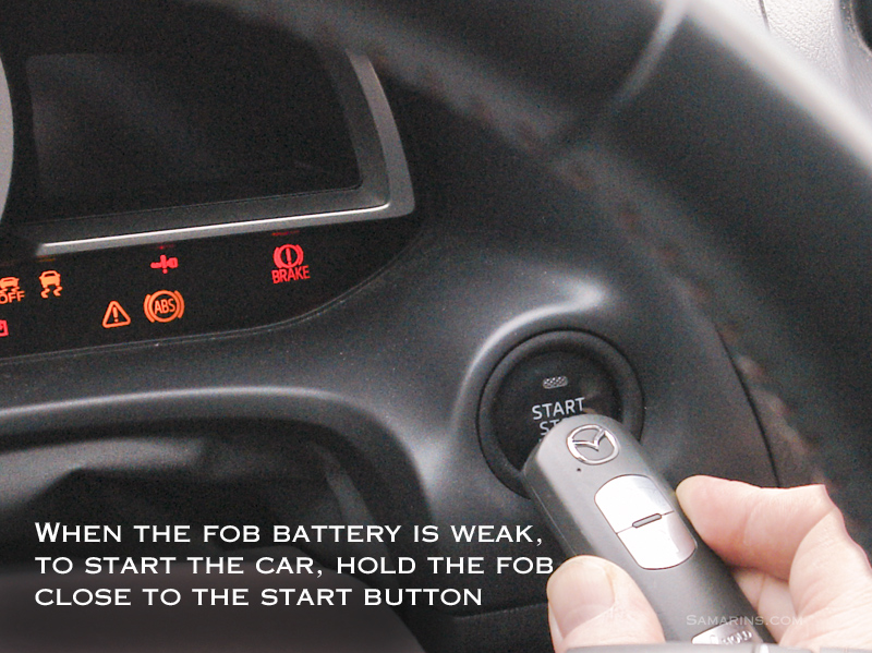 How To Start A Car When The Fob Battery Is Weak
