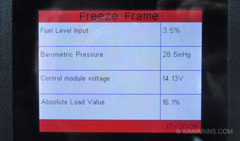 OBDII Freeze Frame: how to access it, examples of how to use it
