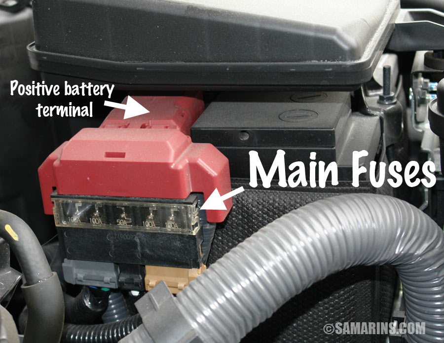 2007 Mazda 3 Engine Fuse Box