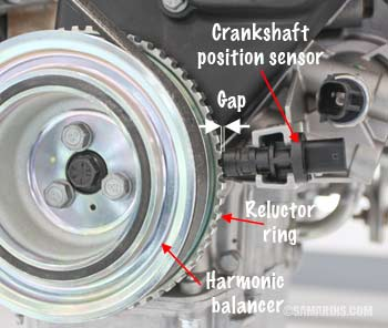 honda odyssey transmission wiring diagram crankshaft position sensor how it works  symptoms  crankshaft position sensor how it works  symptoms