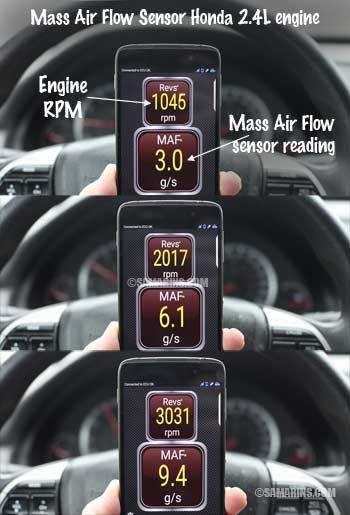 Testing Mass Air Flow Sensor >> Mass Air flow Sensor (MAF): how it works, symptoms, problems, testing