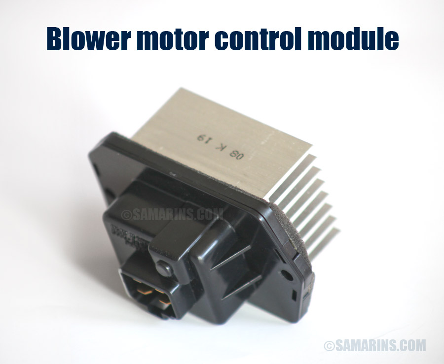 Blower motor, resistor: how it works, symptoms, problems, testing