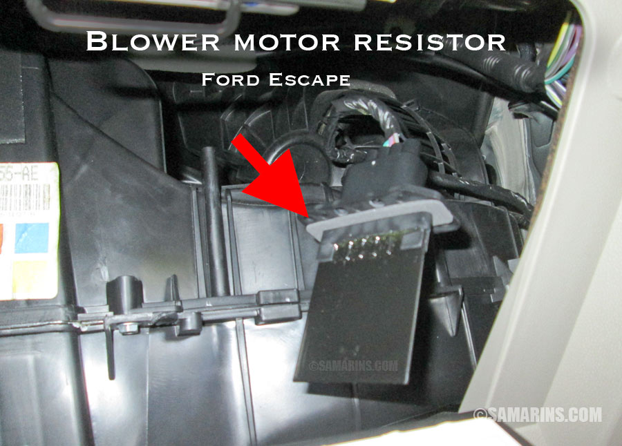 Blower Motor Resistor How It Works Symptoms Problems Testingrhsamarins: Ford Transit Connect Blower Motor Resistor Location At Gmaili.net