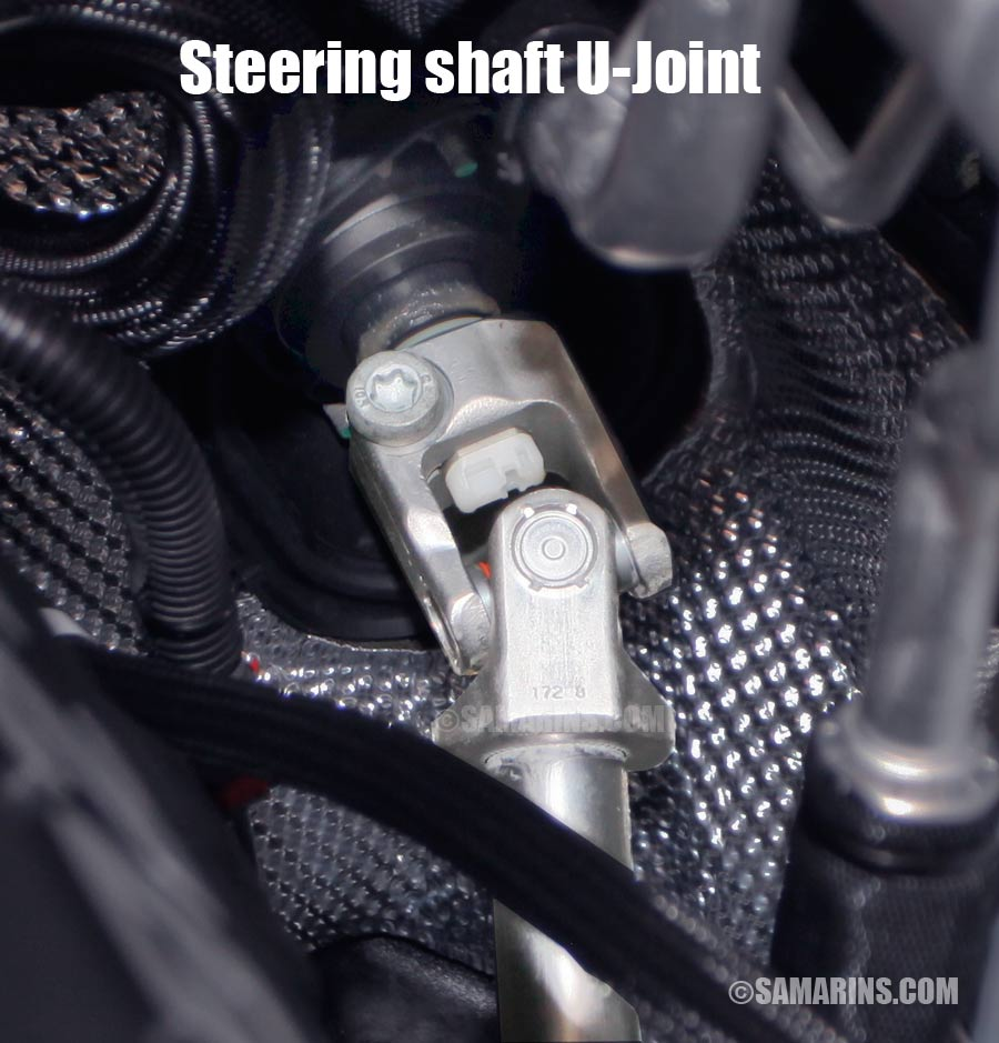 Steering shaft u-joint coupling