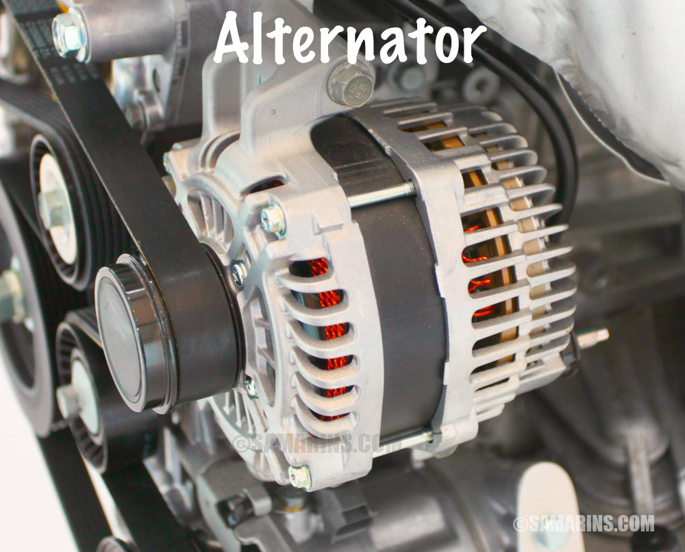 Alternator Large on 1998 Honda Civic Alternator Replacement