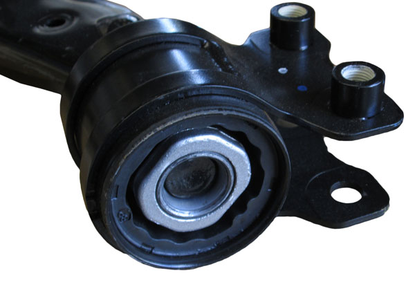 this allows a control arm to swing up and down as front wheels roll over bumps and potholes the outer end of a control arm has a ball joint