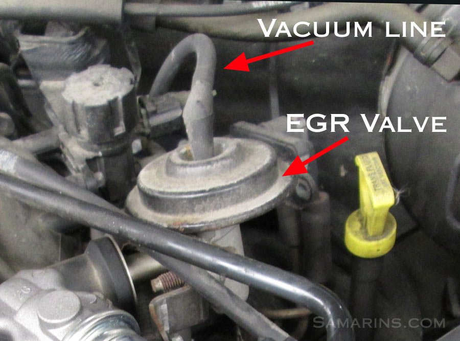 P0400 on 2003 toyota corolla thermostat location