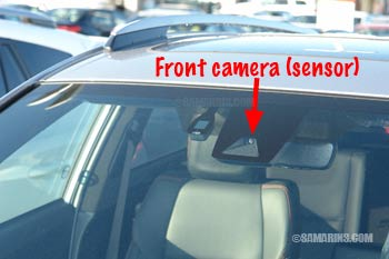 Front camera sensor in the windshield