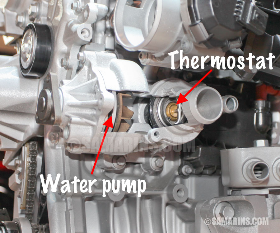 Thermostat Water Pump on 2002 Ford Explorer Engine Diagram