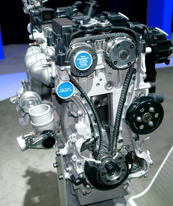 Timing chain in the Ford EcoBoost engine display