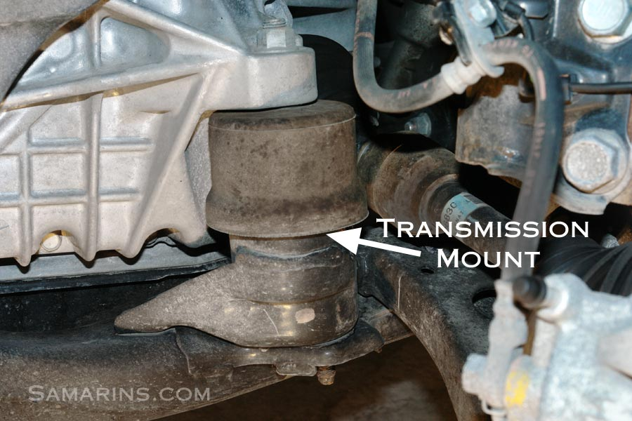 transmission mount large engine mount how it works, symptoms, problems, replacement