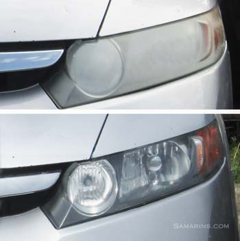 Dim vs the restored headlight