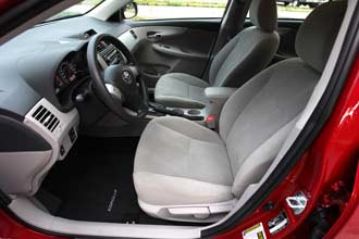 Toyota Corolla front seats