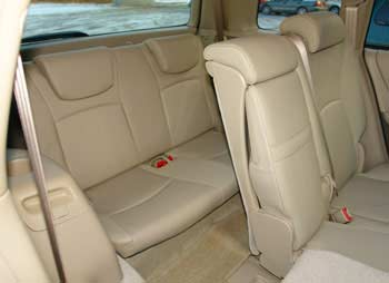 kluger rear seats how to use