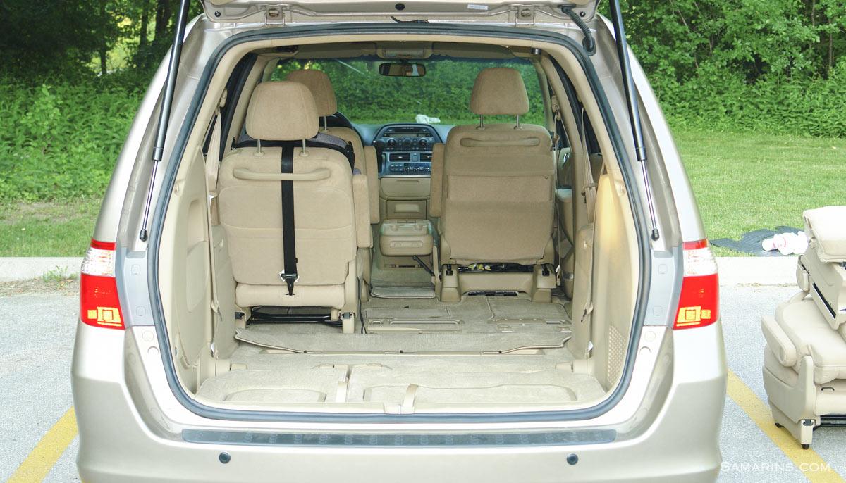 2007 Honda Odyssey Seats Folded