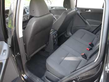 2015 VW Tiguan rear seat