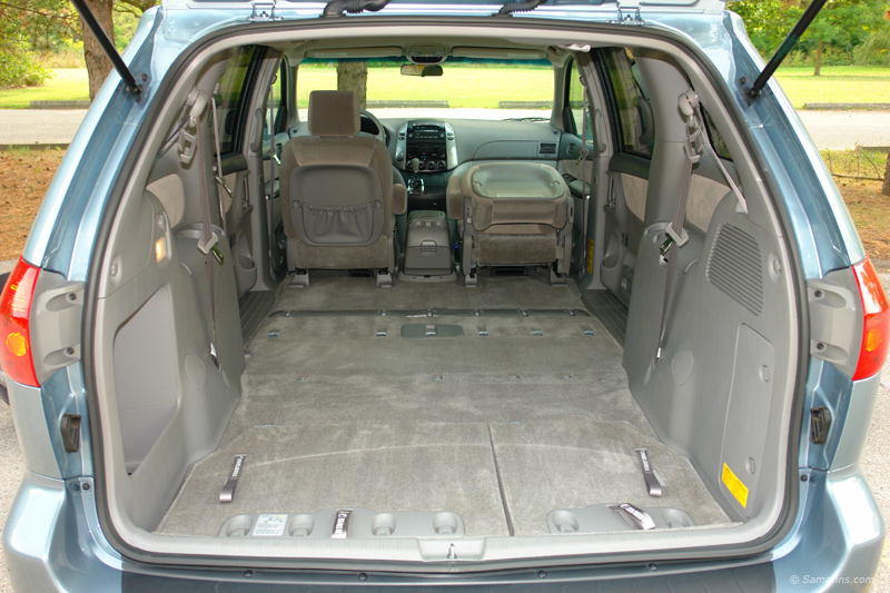 toyota sienna cargo space dimensions. Black Bedroom Furniture Sets. Home Design Ideas