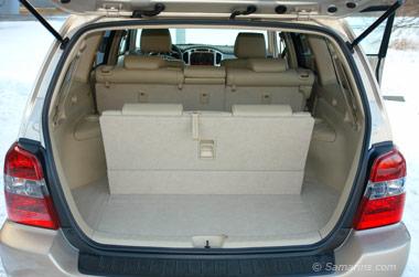 2007 Toyota Highlander trunk, third-row seats up