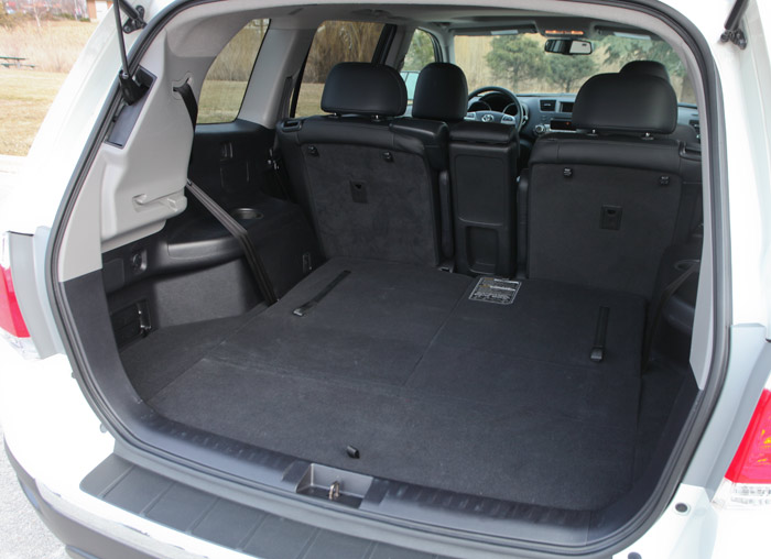 Toyota Highlander Third Row Folded Seats